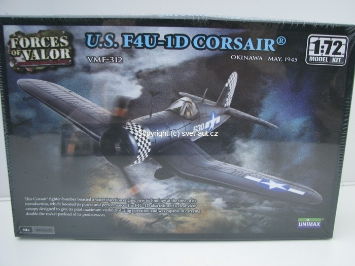 Vought F4U-1D Corsair 1945 Kit 1:72 Unimax